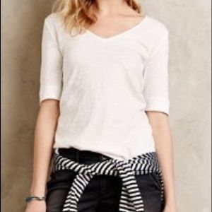 Anthropologie | Pure + Good White Layering Tee XL